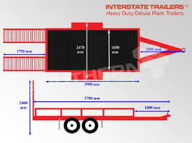 Plant Trailer 4.5 TON ATM 4500kg Deluxe suit Excavators ATTPT - picture3' - Click to enlarge