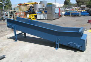 Long Incline Motorised Belt Conveyor - 3.7m long