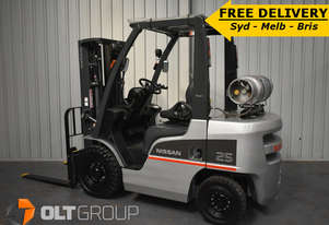 FORKLIFT 2.5 TONNE NISSAN LPG CONTAINER MAST 2013 LOW HOURS CONTAINER MAST