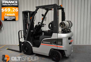 Used Forklift Nissan 1.8 Ton Container Mast Sideshift New Drive Tyres LPG Sydney
