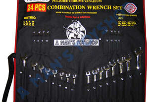 SPANNER SET METRIC/AF 24PCE RING/OPEN