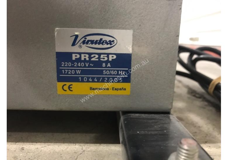 USED EDGING PRE GLUER RE BUILT HOT MELT AUTO WITH MOTORISED WINDER PR25P-DV VIRUTEX
