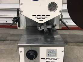 USED EDGING PRE GLUER RE BUILT HOT MELT AUTO WITH MOTORISED WINDER PR25P-DV VIRUTEX - picture0' - Click to enlarge