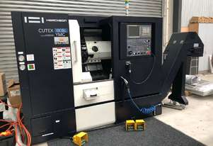 **IN STOCK** - Book a demonstration. Hwacheon CUTEX-180BL YMC Horizontal CNC Lathe.