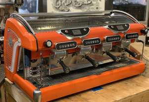 BFC GALILEO 4 GROUP ORANGE ESPRESSO COFFEE MACHINE