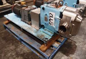 Stainless Steel Lobe Pump, IN/OUT: 75mm Dia
