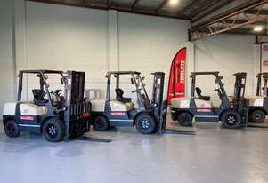 DIESEL 3 TON FD30 H FORKLIFT NEW  LOCATED COOPERS PLANES Floor Stock viewing times Monday to Friday