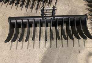 Roo Attachments - Stick Rake 1000mm Wide to Suit 2.0-2.7 Ton Excavator