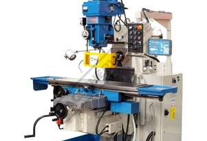 BM-90HV Industrial Turret Milling Machine - Horizontal - Vertical Table Travel: (X) - 1120mm (Y) - 5