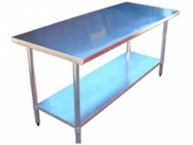 Brayco 1824 Flat Top Stainless Steel Bench (457mmW - picture0' - Click to enlarge