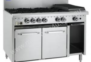 Luus RS-6B3C - 6 Burners, 300 BBQ Char and Oven