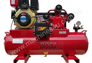 BOSS 20CFM/ 6HP DIESEL AIR COMPRESSOR ON 112L TANK