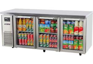 Turbo Air KGR18-3 Under Counter Glass Door Refrigerator