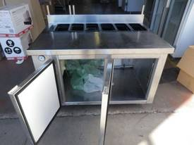 Cold Food Display - Prep Bench and Underbar Fridge