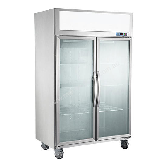 F.E.D. SUCG1000 Double Door Upright Display Fridge