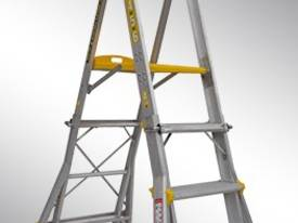 HEIGHT ADJUSTABLE PLATFORM LADDER PL0406-I 150KG I