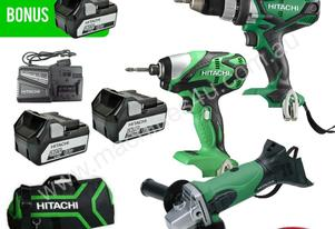 HITACHI KC18DGDL 18V 5.0AH LI-ION CORDLESS 3PC COM