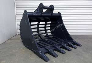 UNUSED 1500MM HEAVY DUTY RAKE BUCKET WITH TEETH SUIT 16-25T EXCAVATOR D614