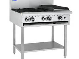Luus Model BCH-4B3C - 4 Burners 300 BBQ Char and Shelf  - picture0' - Click to enlarge