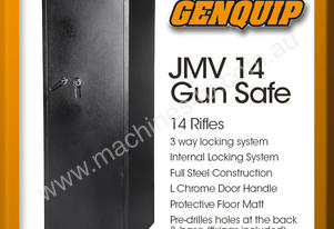 JMV 14 Gun Safe Rifle Firearm Storage Lock Box