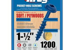 Kreg Pocket Screws 1-1/2 Coarse Thread Blue Kote - 1000pc
