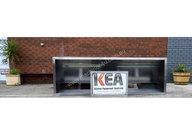 3000 mm USED STAINLESS STEEL EXHAUST CANOPY