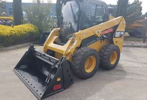 2014 CAT 236D SKIDSTEER WITH HIGH FLOW HYDRAULICS AND LOW 450 HOURS