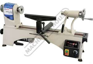 WL-14V Mini Wood Lathe Ø356mm Swing x 470mm Between Centres Electronic Variable Spindle Speed with