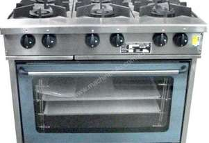 Oxford Series 6BBT-OV15A Six Burner Gas Cooktop w/ Electric Convection Oven