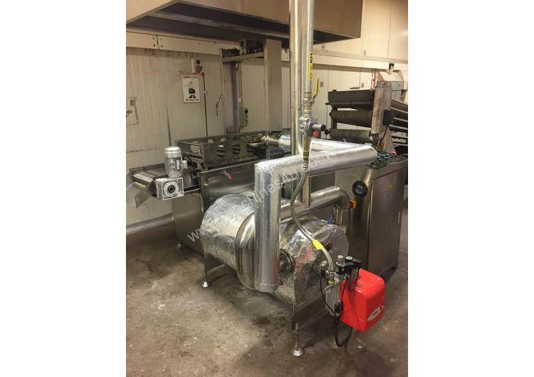 Continuous Deep Fryer (Curtain Fryer) For Industrial Manufacturing