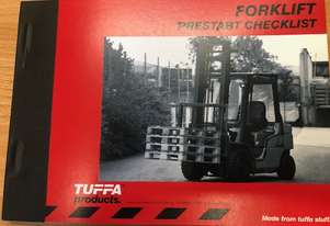 Forklift Prestart check list book