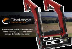 Challenge CL334X-Red front-end loader for your 50-90 HP Case IH tractor, Saving time on the farm!