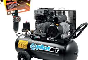 TM325i Air Compressor, 15 Metres Hose & Filter Regulator Package Deal 50 Litre Tank / 2.25hp 11.5cfm
