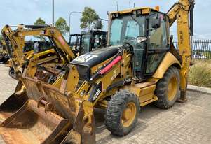 CAT 428E 4WD Extender Back Hoe Side Shift, 4in1 with Roll Over Forks A/C Cab