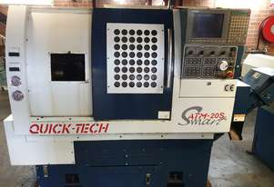 Quicktech Smart ATM20S CNC Lathe Low hours with Barfeeder. Negotiable price