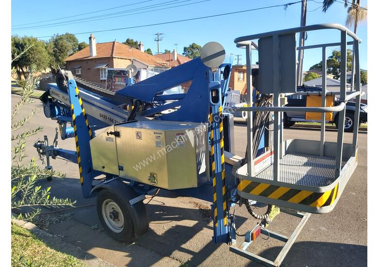 Nifty 15m trailer mounted boom lift, cherry picker, towable EWP