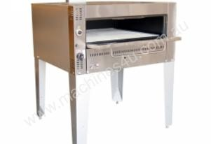Goldstein G236 -Single Deck Gas Pizza Oven on stan