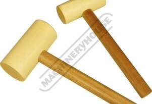 WM-2 Hard Maple Wood Mallet Set - Flat Ends