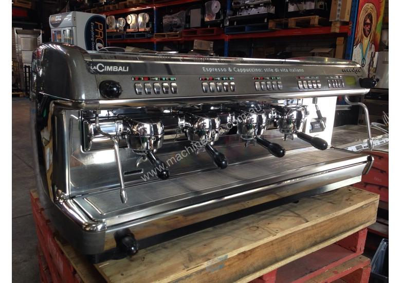 used la cimbali m39 dosatron 4 group commercial coffee machines in richmond vic. Black Bedroom Furniture Sets. Home Design Ideas