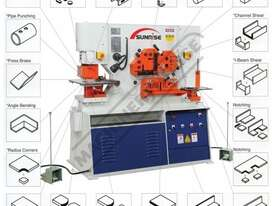 IWNC-100SD Hydraulic Punch & Shear with NC Table 100 Tonne, Dual Independent Operation Includes NC P - picture2' - Click to enlarge