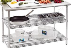 Utility Shelves With Stainless Steel Top 1500 wide