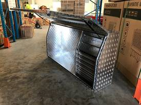 Tool Box Full Door Drawers 2000mm Aluminium- Ute