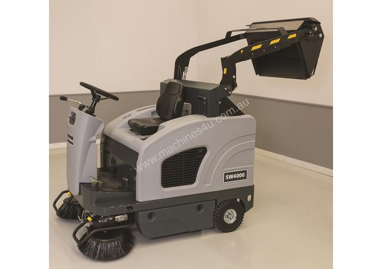 Nilfisk SW4000 Ride On Sweeper in Battery or LPG