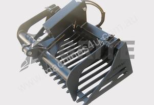NEW HIGH QUALITY MINI LOADER RAKE GRAPPLE BUCKET