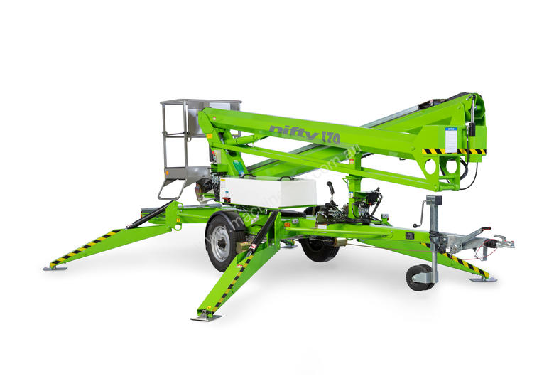 Nifty 170 17.1m Trailer Mount - maximum reach with stability and control