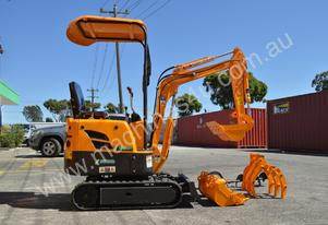 Mini Excavator ME1000 with Buckets Ripper Post