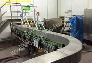 bottling line for hot fill liquid products