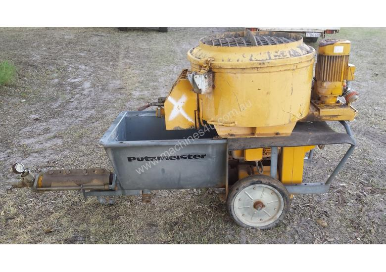 Used Putzmeister Putzmeister Grout Pump And Mixer Grout