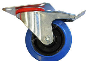 42069 - BLUE ELASTIC RUBBER CASTOR(BRAKE)