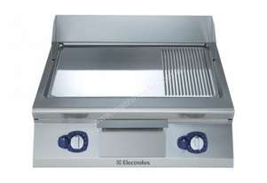 Electrolux 900XP E9FTGHCP00 800mm wide Sloped Chrome Plated Gas Frytop Griddle